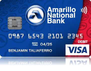 amarillo national bank visa chip card - Custom Visa Debit Card